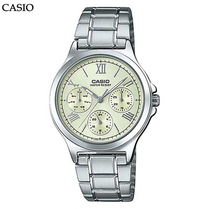 đồng hồ Casio nữ dây kim loại
