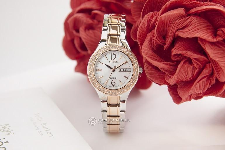 Các thương hiệu đồng hồ nổi tiếng, giá bình dân tại Việt Nam- Ảnh: Casio Sheen SHE-4800SG-7AUDR