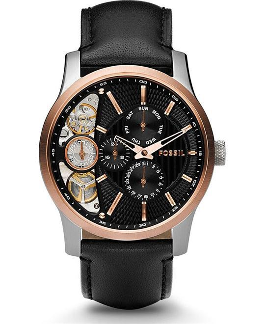 đồng hồ nam giả cơ FOSSIL Twist Black Dial Multifunction Men's Watch 42mm