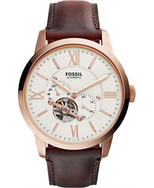 dong ho nam Fossil Townsman Automatic Leather Watch 44mm