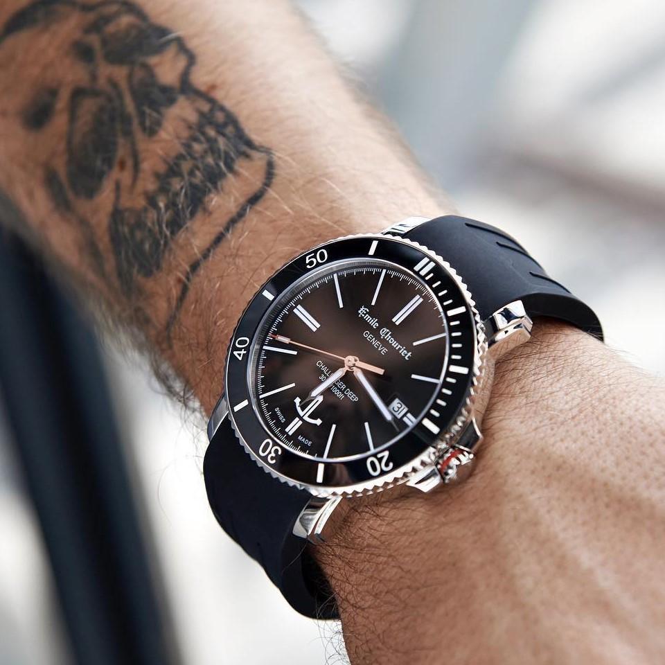 Đồng hồ Emile Chouriet 08.1169G6AW58.8 - Đen huyền bí
