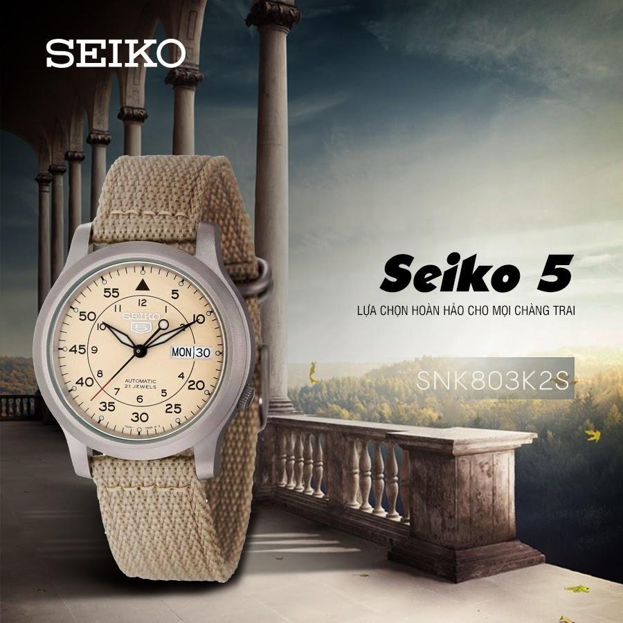 Seiko 5 quân đội SNK803K2S