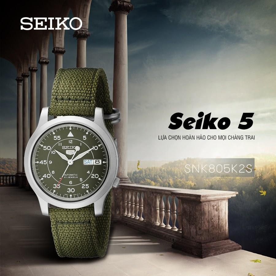 Seiko 5 quân đội SNK805K2S