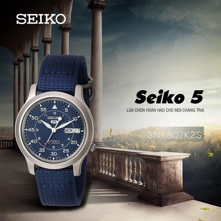 SEIKO 5 quân đội SNK807K2S