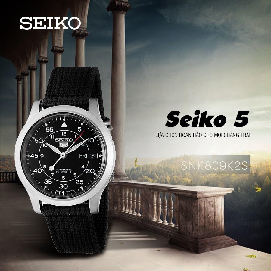 SEIKO 5 quân đội SNK809K2S