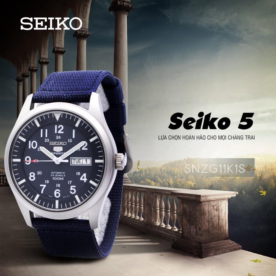 SEIKO 5 quân đội SNZG11K1S