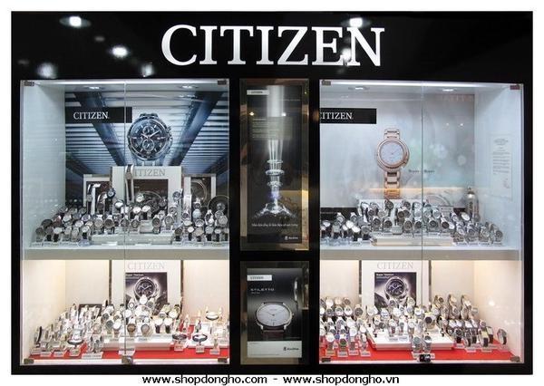 300 mẫu đồng hồ citizen được trưng bày tại shop đồng hồ