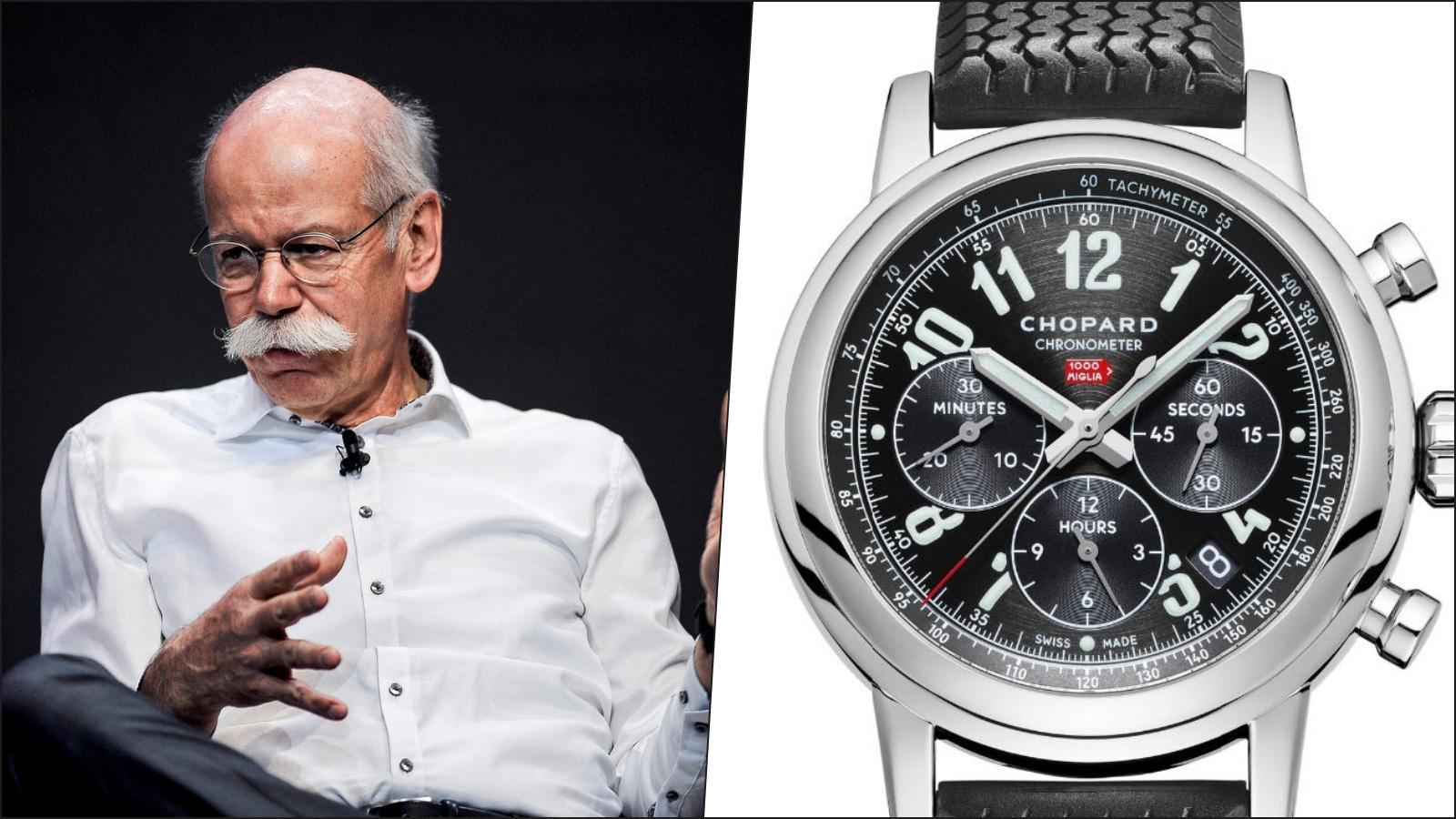 Dieter Zetsche, cựu CEO của Daimler - Chopard Mille Miglia GMT Chronograph 16/8992-3001 (5.260 USD)