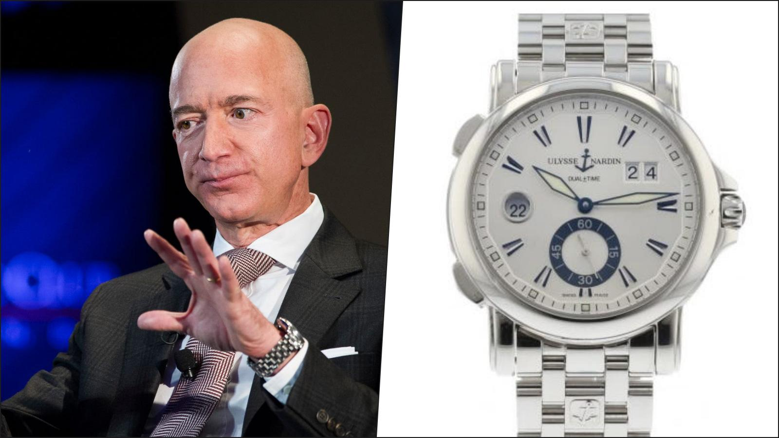 Jeff Bezos, CEO Amazon - Ulysse Nardin Dual Time 233-88-7 (12.900 USD)
