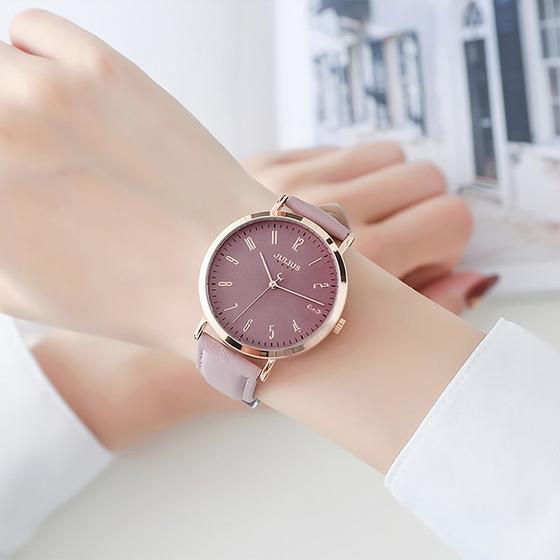 Đồng hồ nữ Julius Hàn Quốc JA-1017 dây da - Shop VnExpress