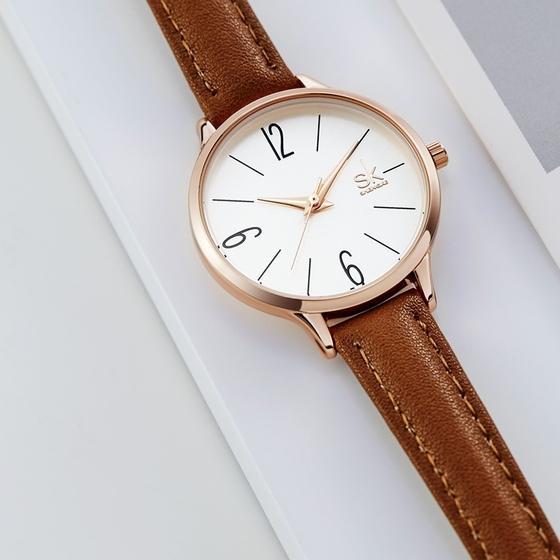Đồng hồ nữ chính hãng Shengke Korea K8064L-03 - Nâu - Store Ngôi Sao