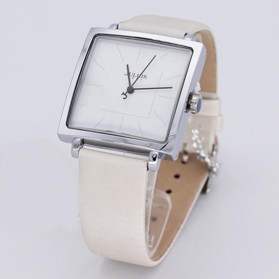 Đồng hồ unisex JA-354 Julius Hàn Quốc dây da mặt vuông (nhiều màu ...