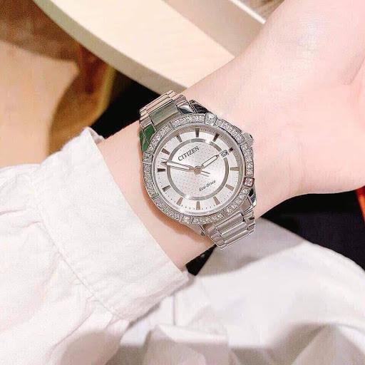 Đồng hồ Citizen Nữ FE6060-51A chính hãng Eco- drive