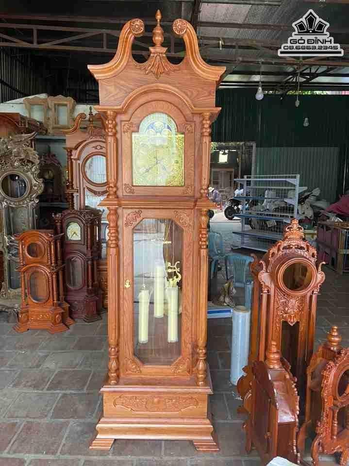 Đồng hồ quả lắc gỗ Hương